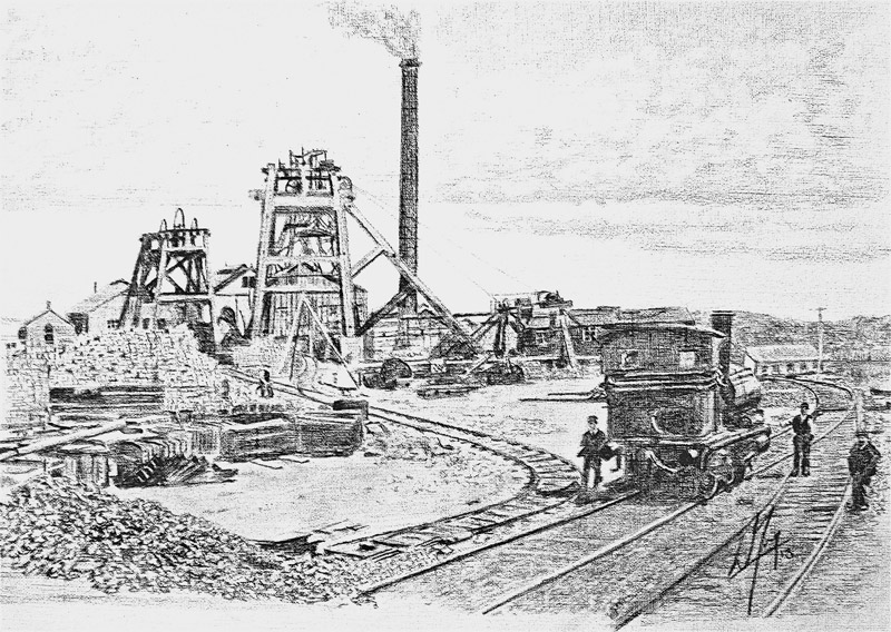 Postcard showing Tilmanstone COlliery in 1912